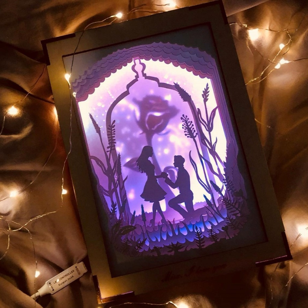 | 光影故事 | 紙雕小夜燈 | 求婚小故事 |