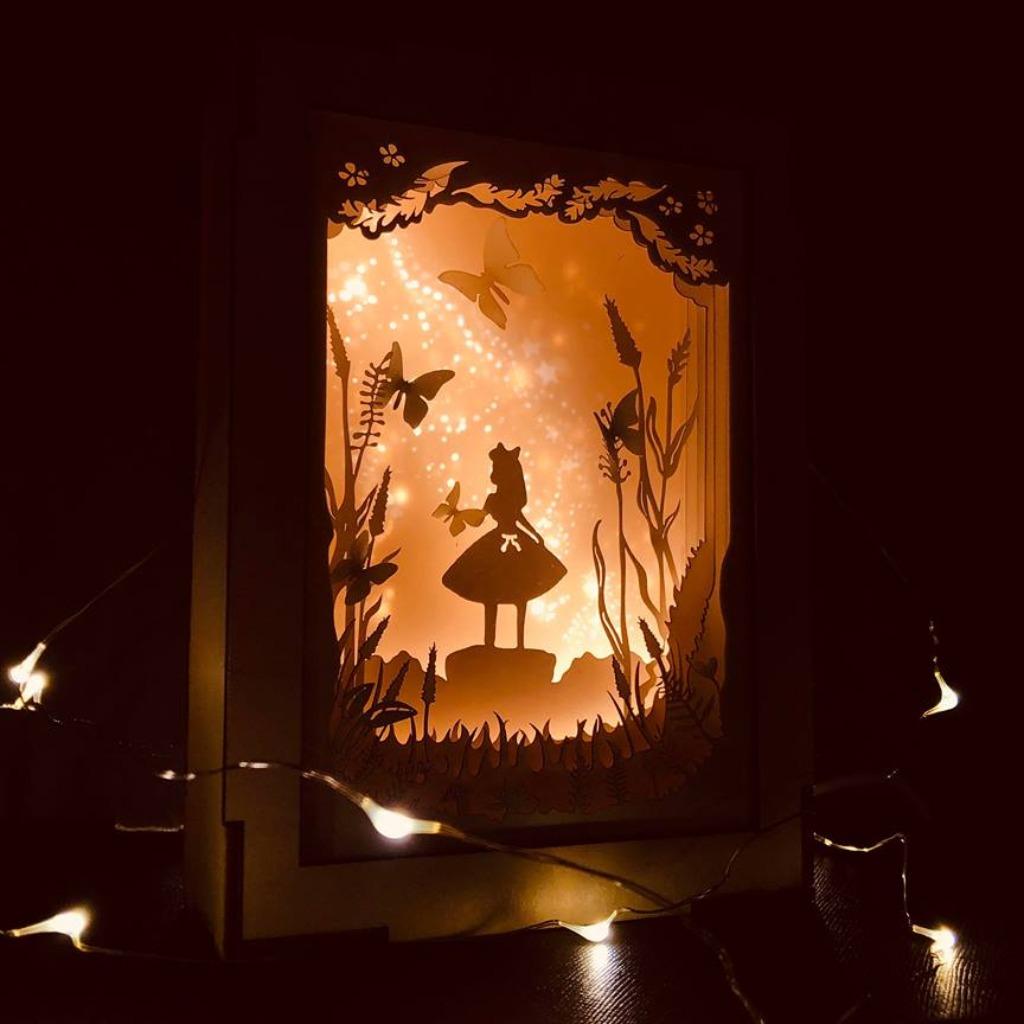 | 光影故事 | 迷你紙雕小夜燈 | 夢幻森林 |