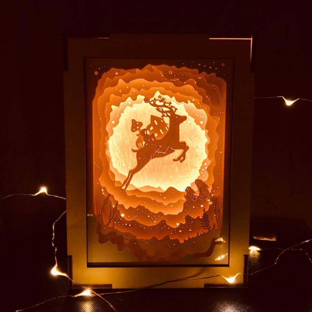 | 光影故事 | 迷你紙雕小夜燈 | 小鹿星球 |