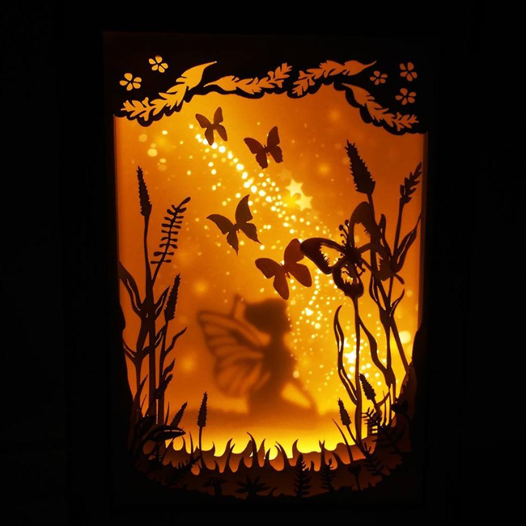 | 光影故事 | 迷你紙雕小夜燈 | 送你一顆星的小精靈 |
