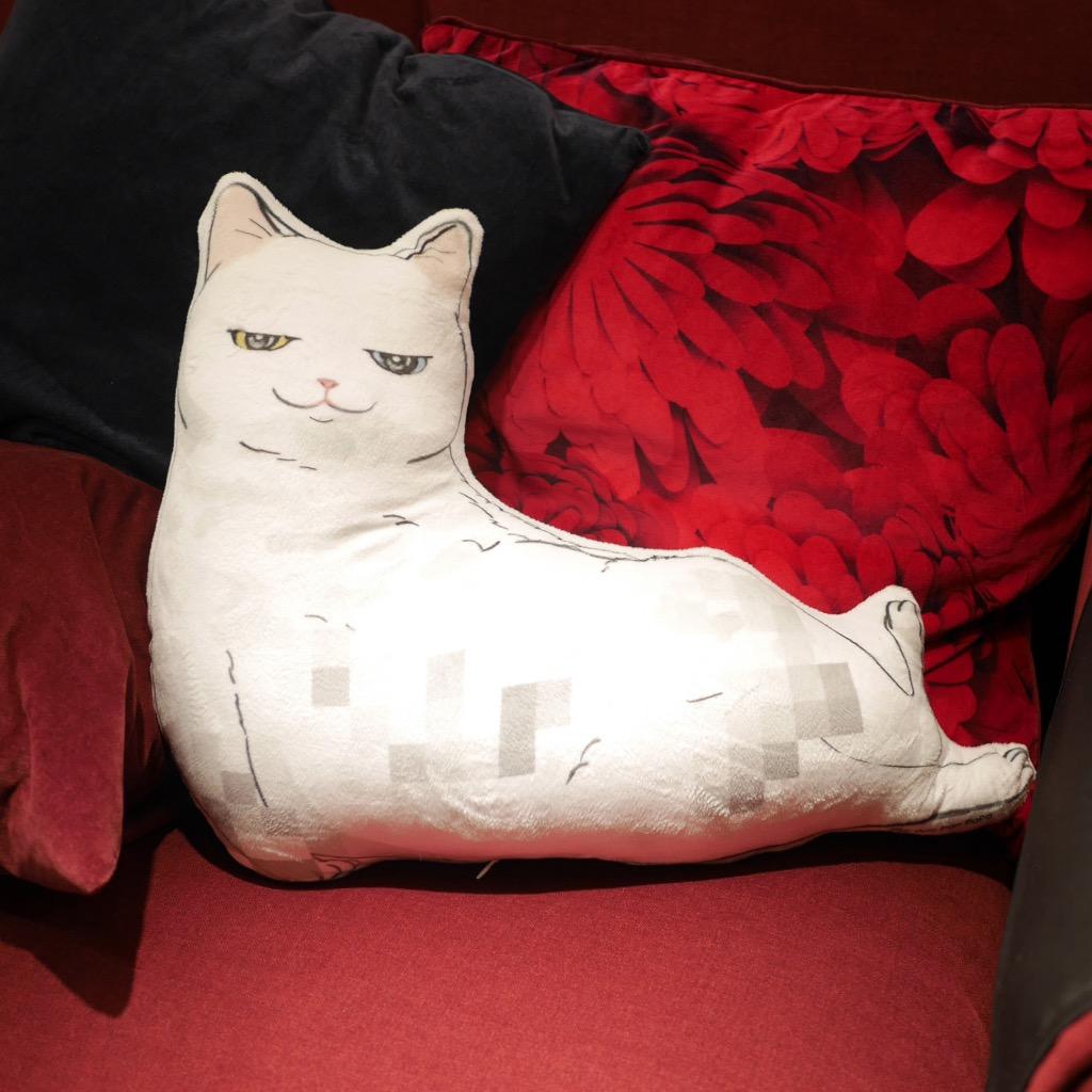 貓抱枕 Cushion-White