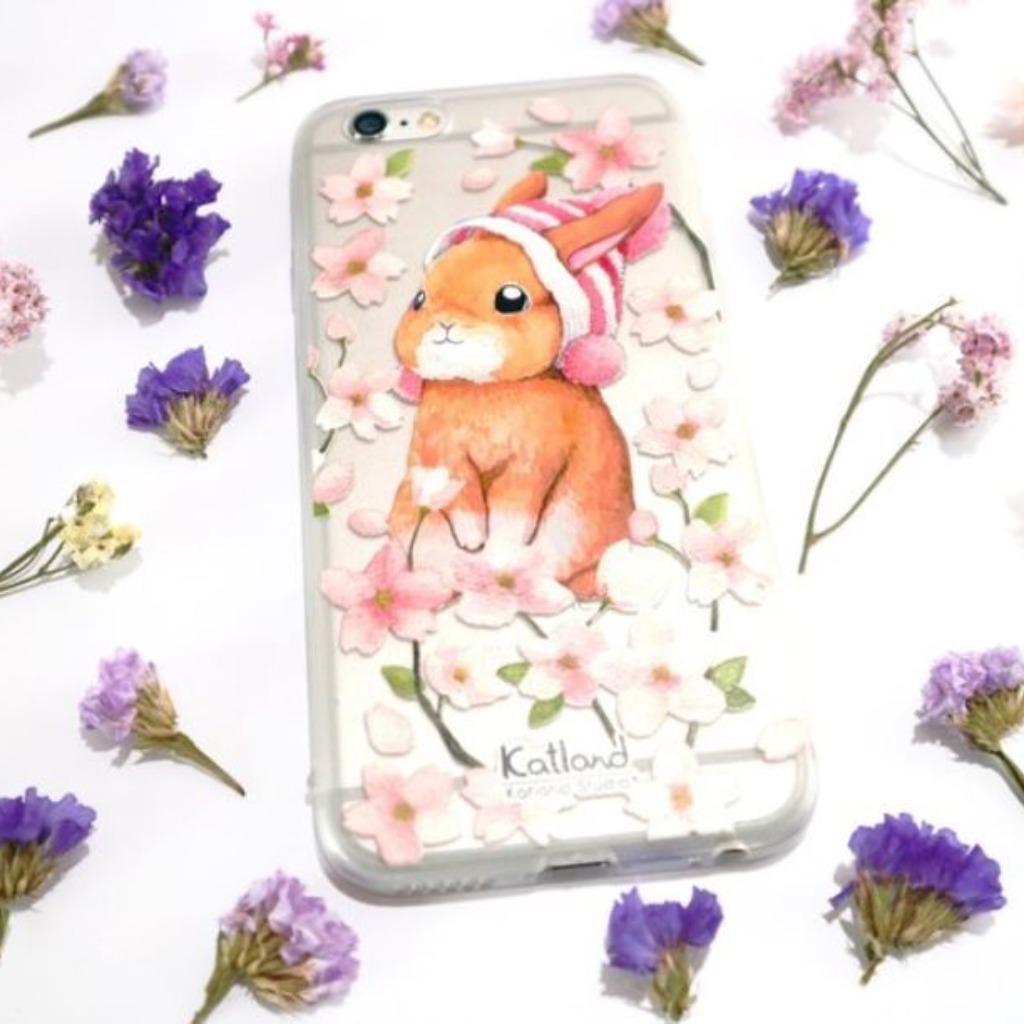 自家設計 - 櫻花帽子兔手機殼 保護套Phone Case F1R02