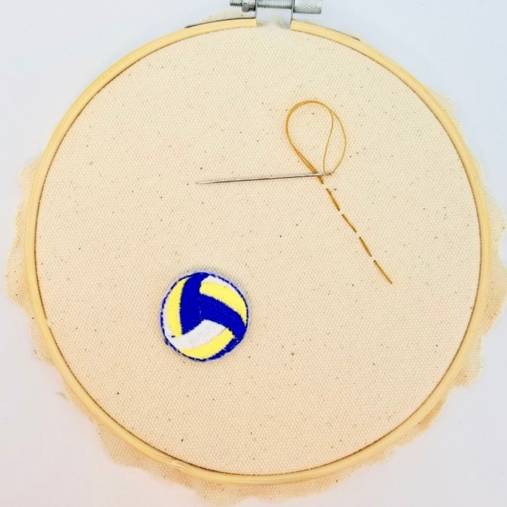 【(加名)排球鎖匙扣/襟章】(運動篇)可加英文字 刺繡布章 自訂款鎖匙扣 I023P