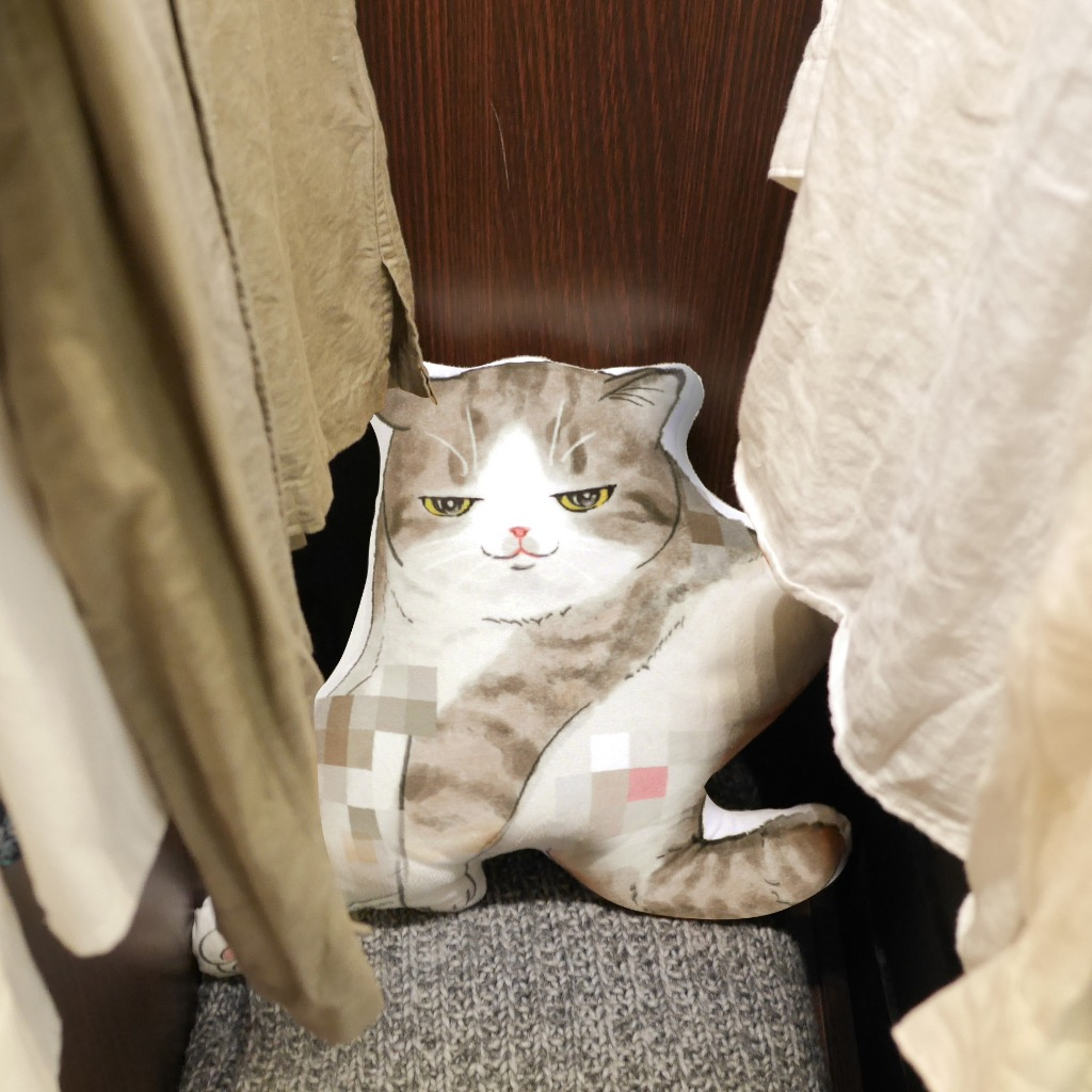 貓抱枕 Cushion-Tabby White