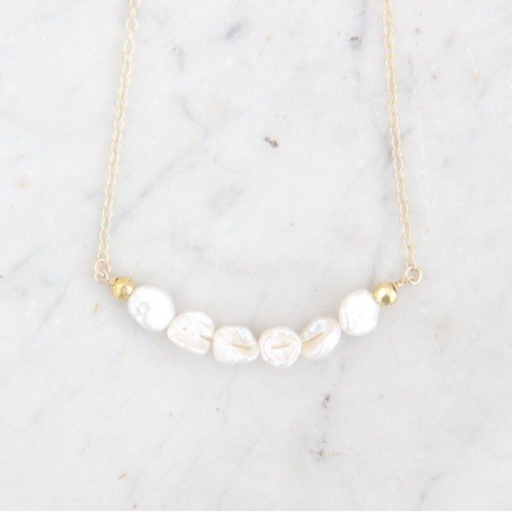 KESHI天然珍珠短項鍊 2KESHI water pearl with 14KGF necklace 2