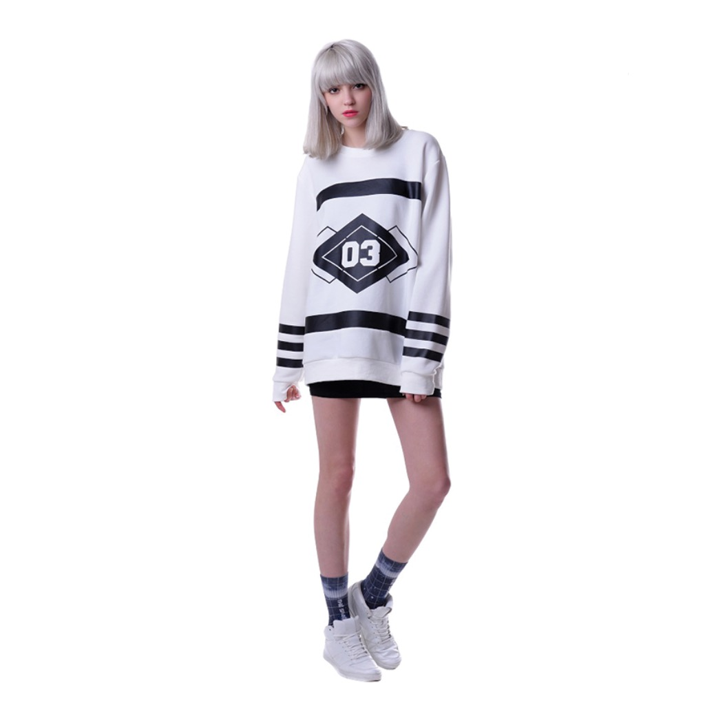 Sweater Pullover Black & White