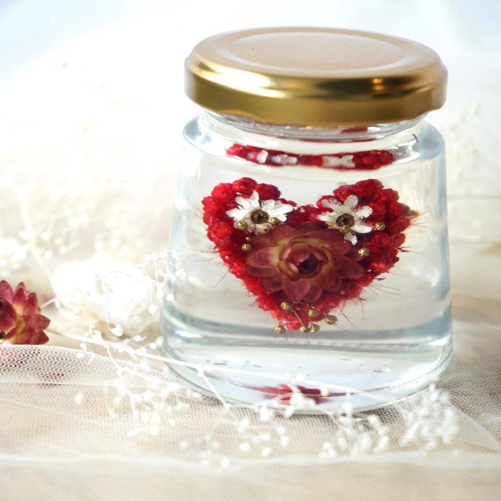 Puricraft | Floze Bottle -Heart |浮游花瓶 靜止 乾燥花 永生花