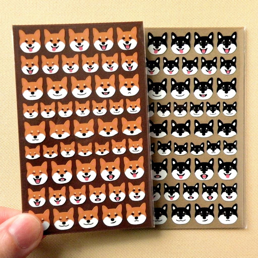 柴犬表情貼紙 2份組