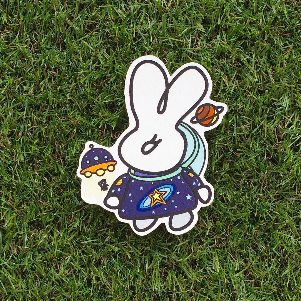 Fuzzy Family 造形系列貼紙 - 太空人