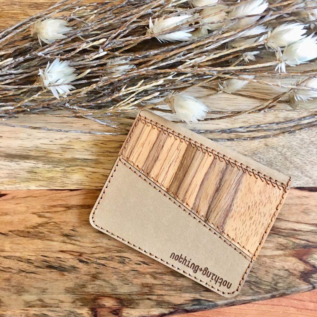 木製配洗水牛皮紙卡套