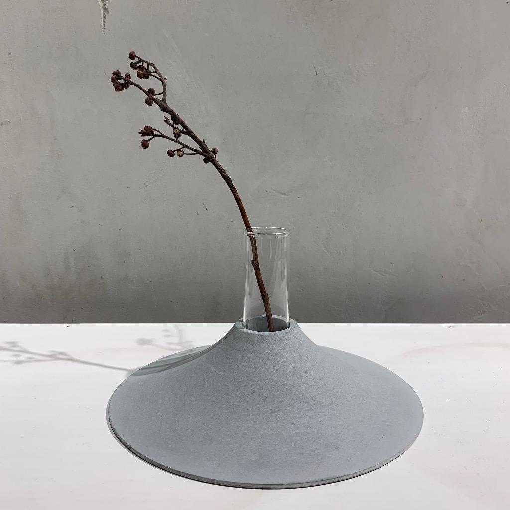 水泥花瓶   大型   平   灰