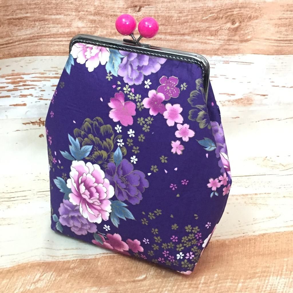 MBC﹒15CM 大口口金包﹒紫色牡丹