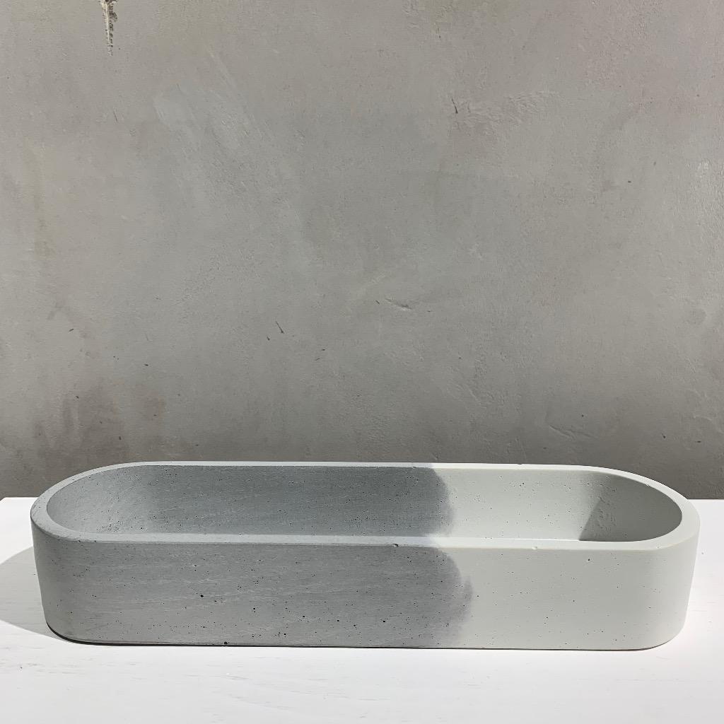 水泥置物皿 | 椭圆形(大) | 雙-對