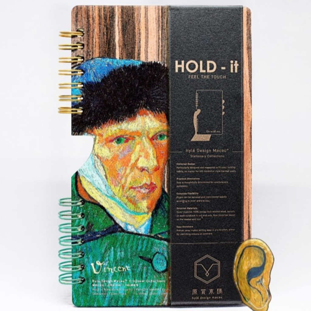HOLD-it Wooden Notebook VINCENT