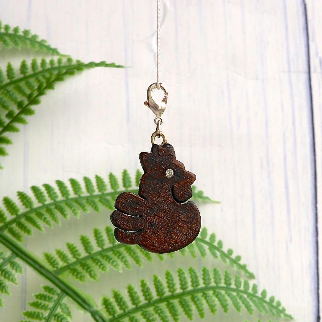 【Honeywood】手工木製吊飾 》》肥雞。吊飾 禮物訂製