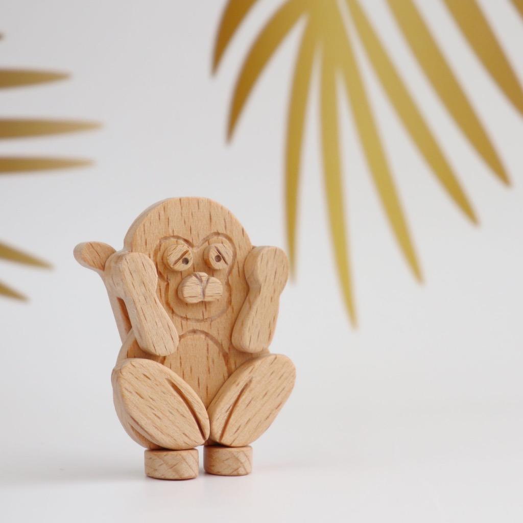 手工木製磁合擺設 木質模型 三猿 - 非禮勿聽 禮物訂製
