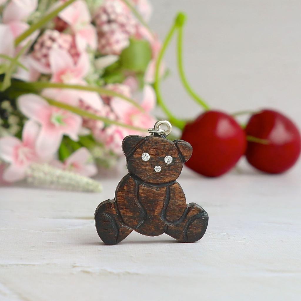 【Honeywood】手工木製吊飾 》熊。吊飾 禮物訂製