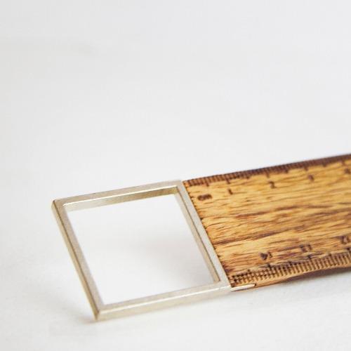 【Hylé Design Macau 】SIMPLE 90° RULER緬甸花梨木 X 白銅 直角尺