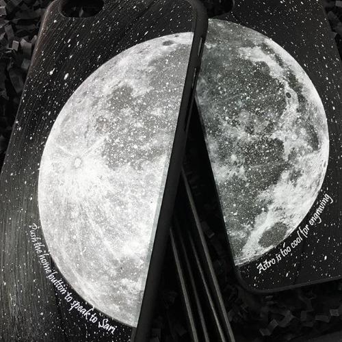 iPhone 5 / 5S / SE 手機殼 月球 黑膠唱片 保護殼【HIRAETH 浪漫星球系列】 (可以刻名)