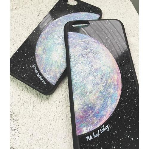 iPhone 6 / 6S 手機殼 彩色 水星 Mercury 黑膠唱片 保護殼【HIRAETH 浪漫星球系列】 (可以刻名)