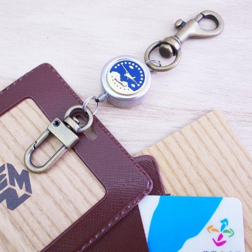 星空旅人,鉤式不鏽鋼伸縮票卡夾