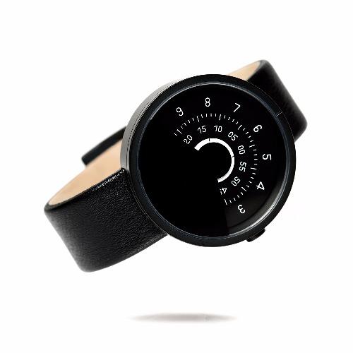 ANICORN 簡約轉盤設計 - 時尚自動機械手錶 Series 000 - BW
