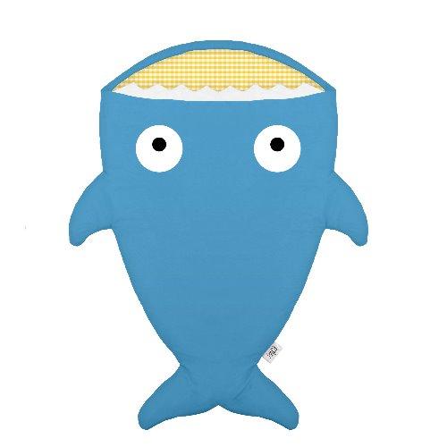 【BabyBites】西班牙製100% 純棉手作嬰兒/幼兒睡袋 防踢被 海藍色《夏季版》