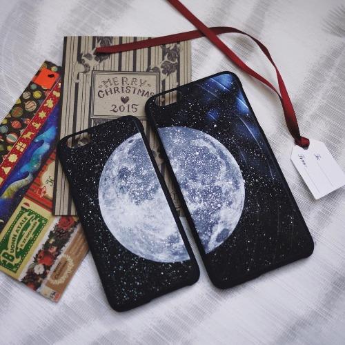 iPhone 6 / 6S 手機殼 月球 黑膠唱片 保護殼【HIRAETH 浪漫星球系列】 (可以刻名)