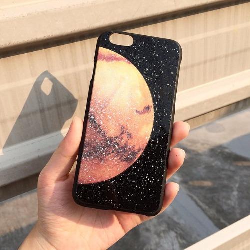 iPhone 5 / 5S / SE 手機殼 火星 Mars 黑膠唱片 保護殼【HIRAETH 浪漫星球系列】 (可以刻名)